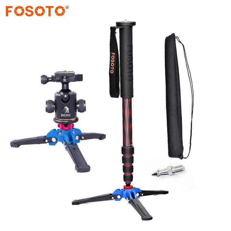 wholesale C-222 Carbon fiber Camera flexible Mini Tripod Stand Professional Portable monopod Ball head Mount For Dslr Camera Phone