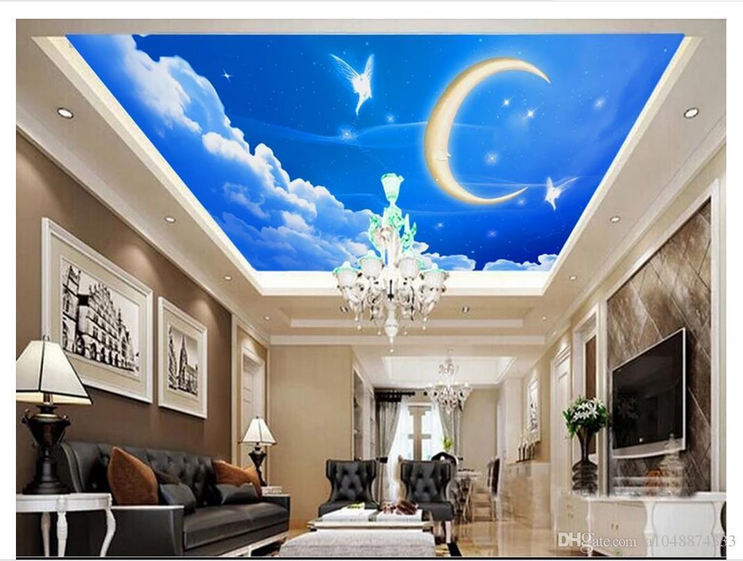 3d Wallpaper Custom Photo Ceiling Mural Wallpaper Dream Sky Blue
