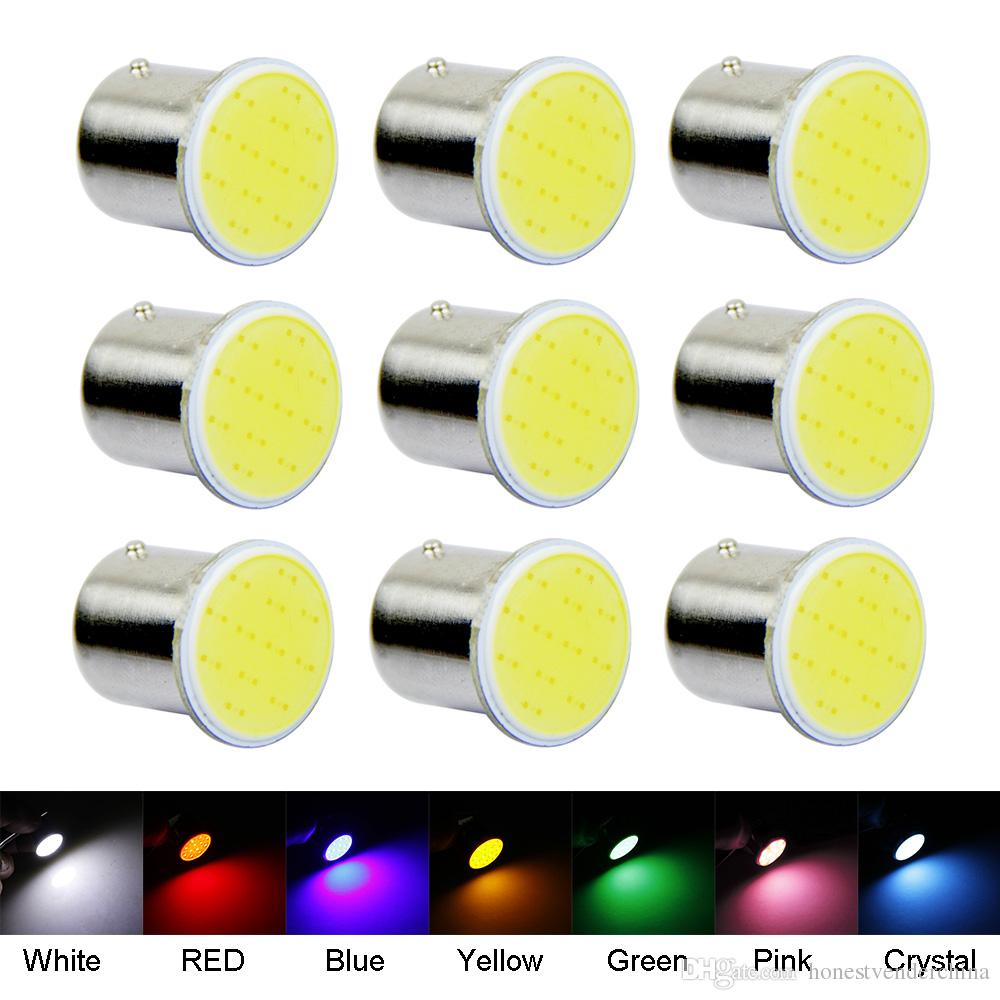 10PCS Strobe Flashing White COB P21W Led 1156 BA15S DC 12V Bulbs Car-Styling External Lights Auto Car Parking Brake Fog Light Lamps