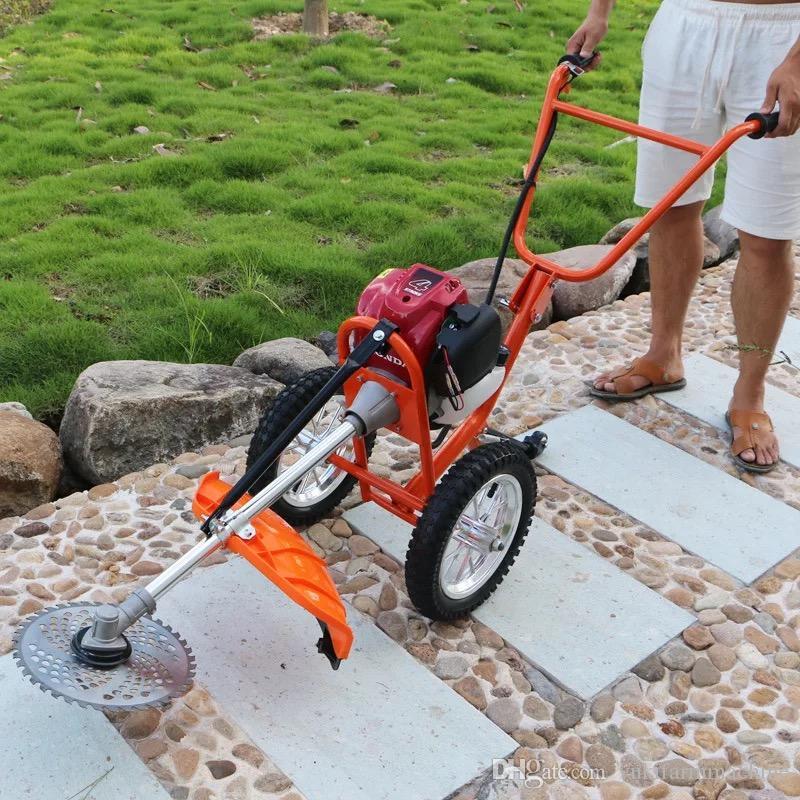 Tondeuse à pousser à la main Nouvelle populaire machine à couper l'herbe à quatre temps débroussailleuse de la tondeuse à gazon tondeuse à moteur à deux temps