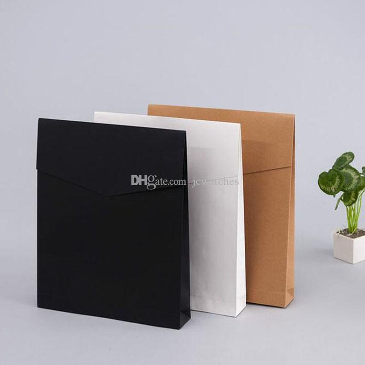 크래프트 종이 봉투 선물 상자 현재 패키지 가방 책 / 스카프 / 옷 문서 결혼식 호의 장식