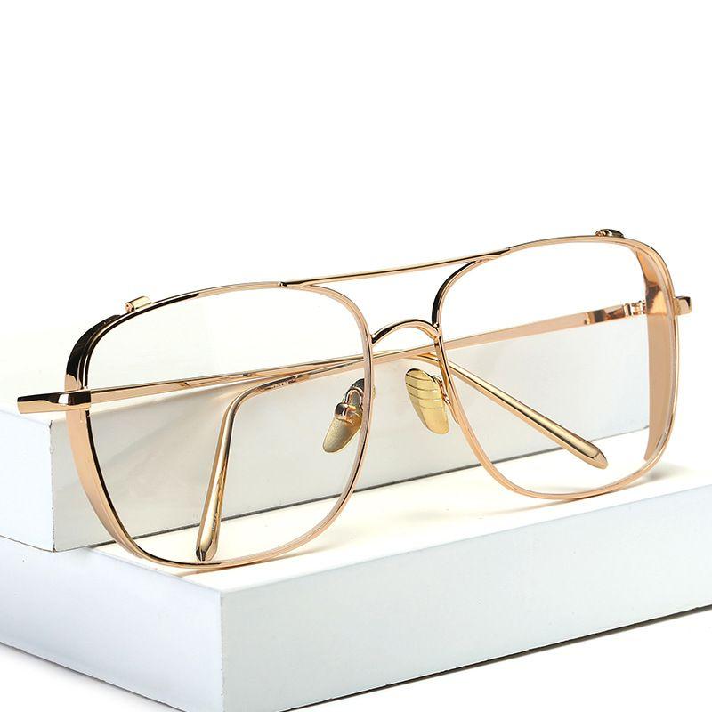 مصمم النظارات للرجال أزياء النظارات الكبيرة إطارات الرجال إطارات النظارات شفافة للنساء الإطار البصرية الكلاسيكية