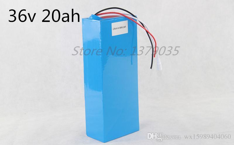 Batería del Li-ion de la batería eléctrica libre de la bici del envío 36V 20Ah con el caso de PVC + BMS + cargador