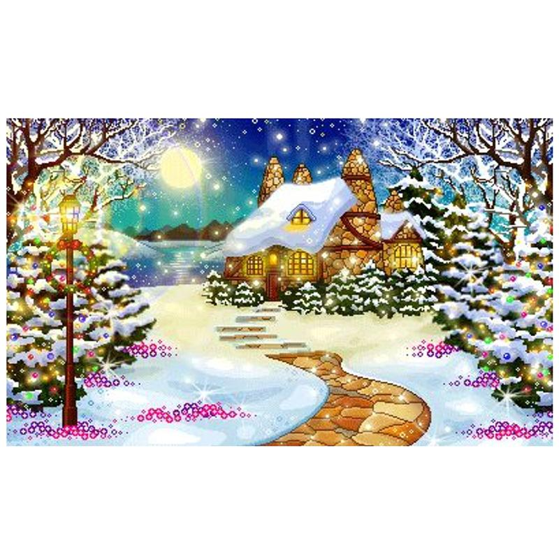 5D DIY Diamond Painting Santa Claus Embroidery Art Cross Stitch Xmas Home Decor