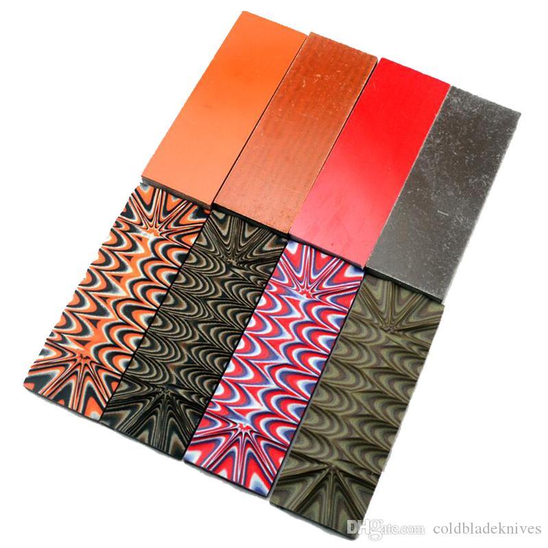 Fibra de vidrio Cuchillo que hace el material de la manija Serpiente manchada Ondas de sonido G10 Gran cuchillo DIY