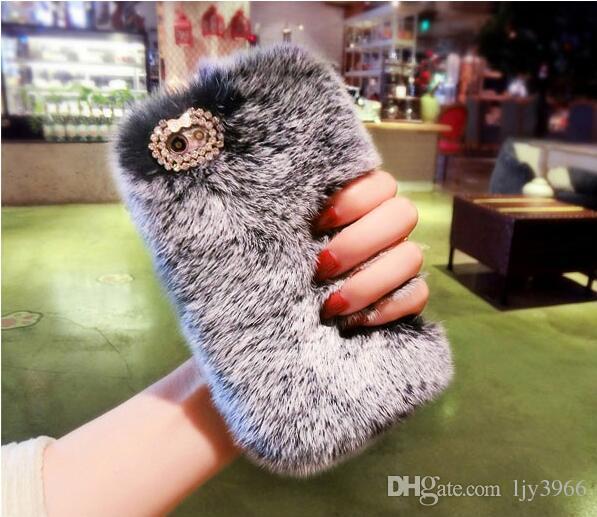 CALIENTE mayor anillo nuevo Bling soporte del sostenedor del diamante conejo caliente peludo del iPhone Sumaung Para