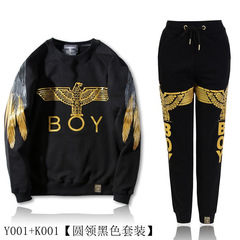 Gold eagle wings T-shirt BOY winter sweater cashmere loose cotton with men and women couples