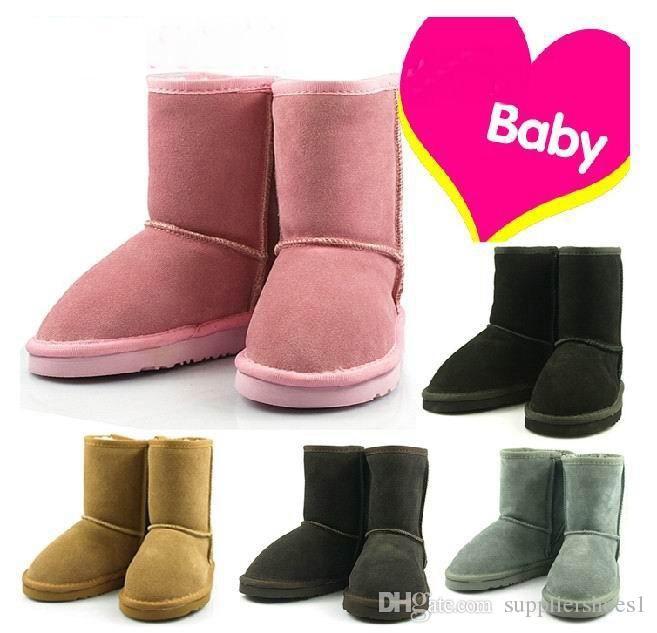 Горячие продать новый реальный Австралия 528 высокое качество Kid мальчики девочки дети детские теплые ботинки снега подростков студентов снег зимние сапоги Бесплатная доставка