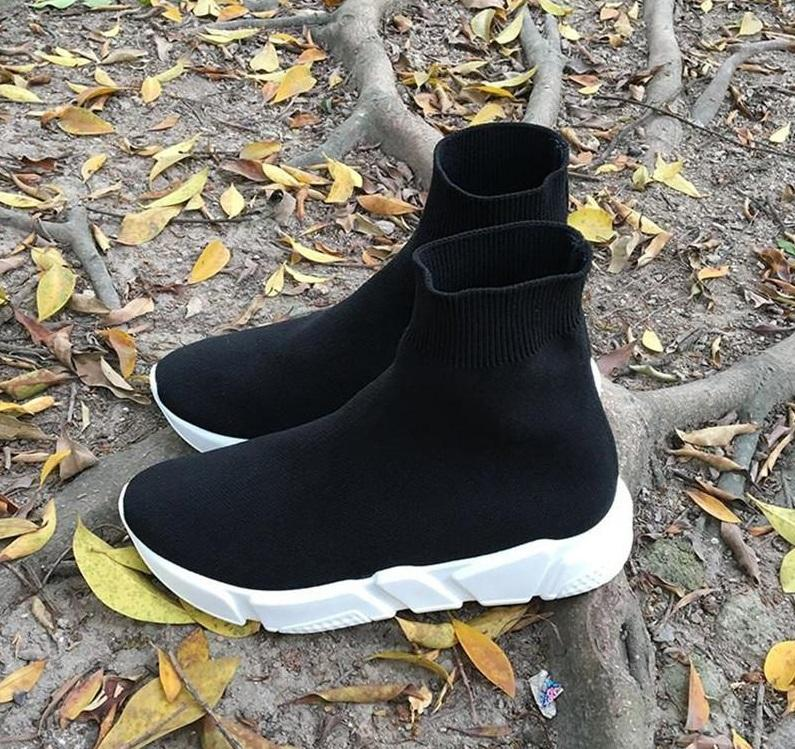 2019 Luxury Socks Shoes High Top Sneakers Speed High Slip On Breathable Sneakers Air Mesh Black Jogging Outdoor Men Running Shoes From Solebox, $60.92