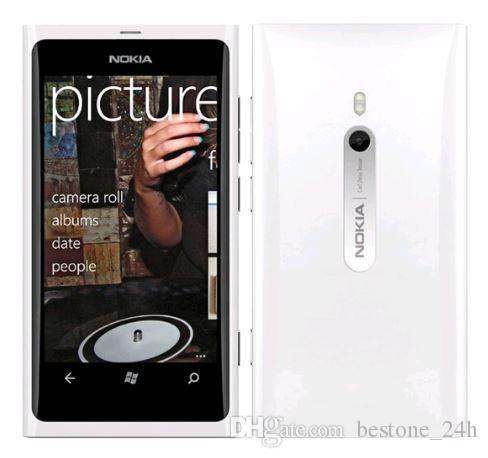 "Lumia 800 Windows Phone 3.7 ""Nokia Lumia 800 Mobile Phone ROM 16Go Caméra 8.0MP Wifi GPS Bluetooth 3G téléphone portable"