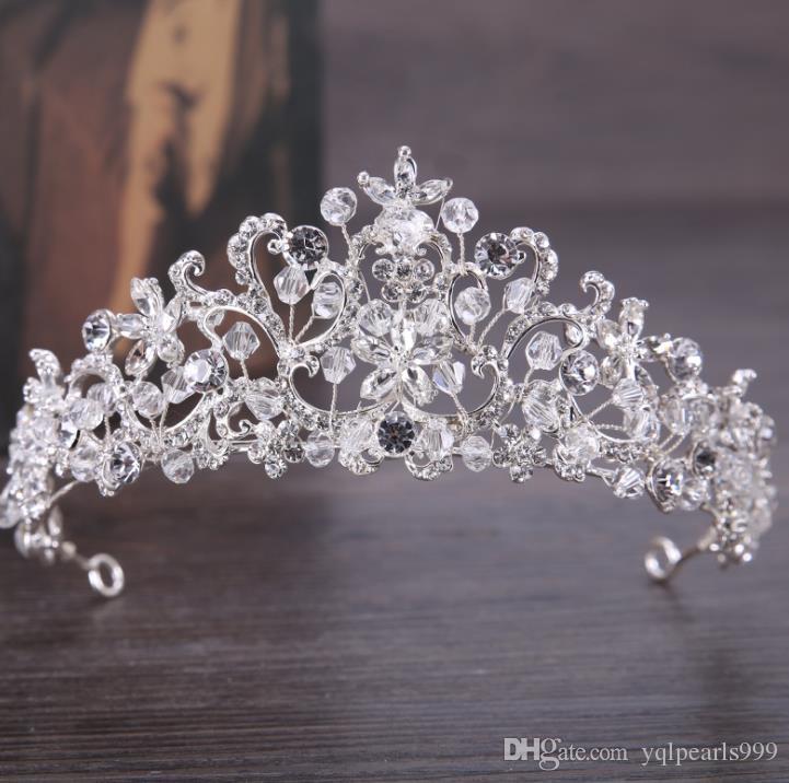 Diamond crystal crown 2018 new bridal headwear fashionable elegant elegant crown ornaments