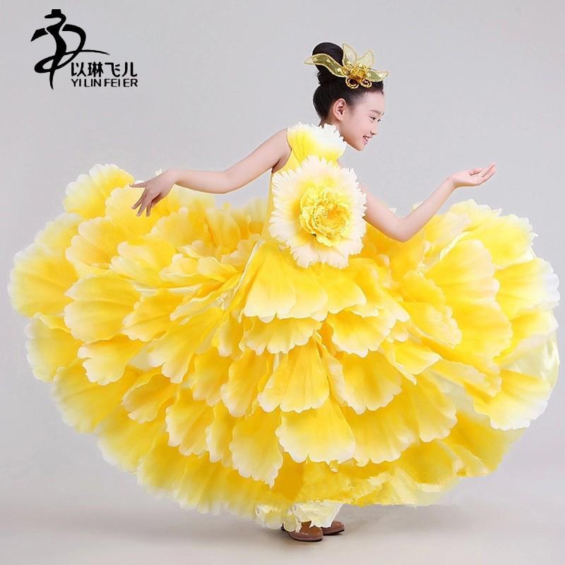 بنات فلامنكو اللباس / 540 FLAMENCO ثوب لفتاة / قاعة الرقص فتاة فستان / الاسبانية اللباس / Vestidos دي بايلي