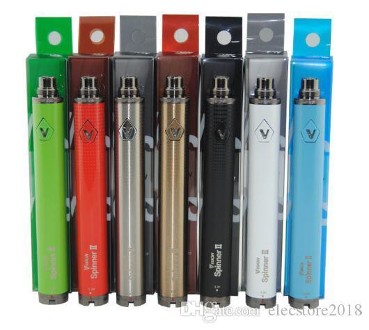 En Vision spinner II 1650mAh Ego 3.3 4.8V vizyon Spinner Elektronik sigaralar ego atomizör için 2 değişken gerilim pili bükmek