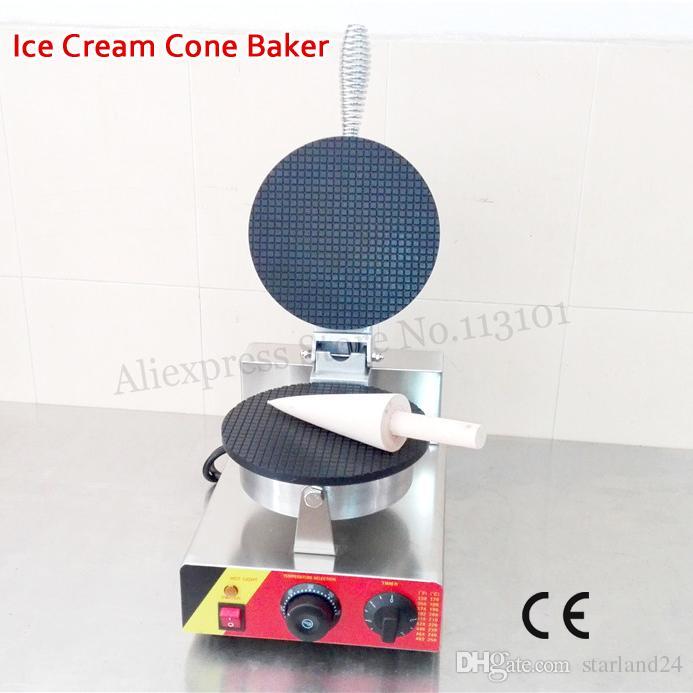Cono de helado eléctrico Máquina para hacer panqueques crujientes, antiadherente, para hacer gofres, comercial y de uso doméstico 1000W 220V 110V Aprobación del CE