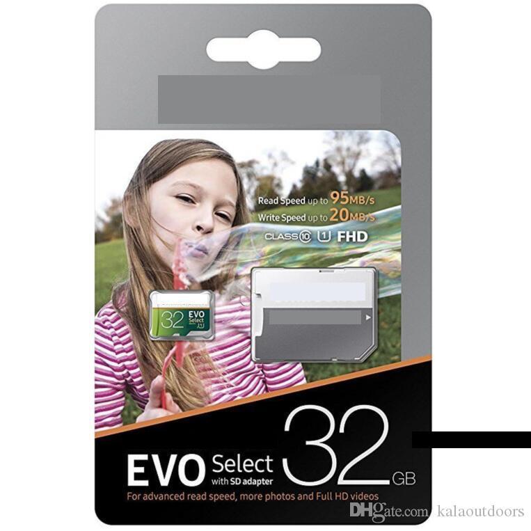베스트 셀러 실제 용량 32GB 16GB EVO Select MicroSD UHS-I 카드 클래스 10 U1 마이크로 SD SD 메모리 카드 (어댑터가 더 빨라짐)