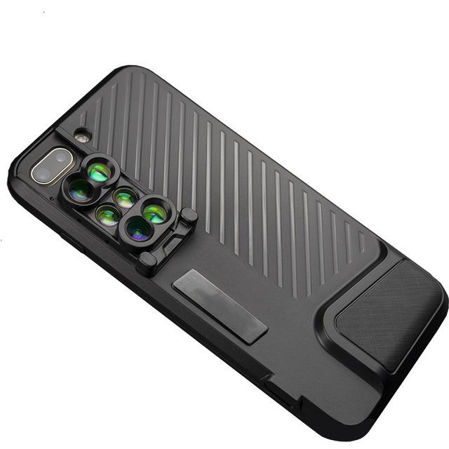 Cameras Filter 6 Piece Mobilephone Lens phone case cover for iphone 7 8 8Plus Wide-Angle Telephoto Fisheye Lens for Photography