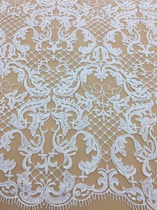 2018 новый высокий и элегантный тонкой работы тюль сетки вышитые цветы свадебные кружева ткань с цветочным свадебное платье