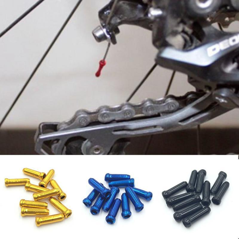 4 mm Desplazador de Freno de Bicicleta de monta/ña Cambiador Puntas de Extremo de Cable Engarzado luosh 10Piezas Puntas de Cable de Freno