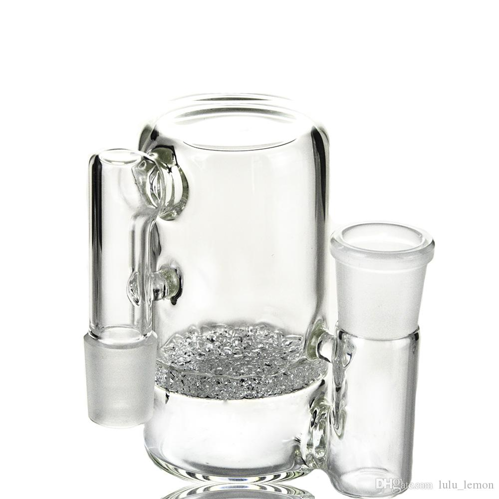 4-Zoll-Glas Aschfänger Für 18mm 14mm Joint Glas Bongs Frit Perc Glass Ashcatcher Clear-Color über 190g ASH-P902 ASH-P903