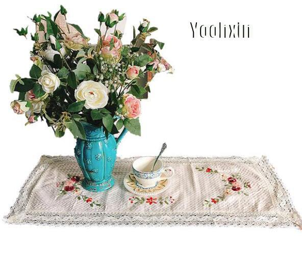 Modern lace cotton table place mat cloth embroidery pad cup mug holder drink trivet glass placemat coffee doily kitchen