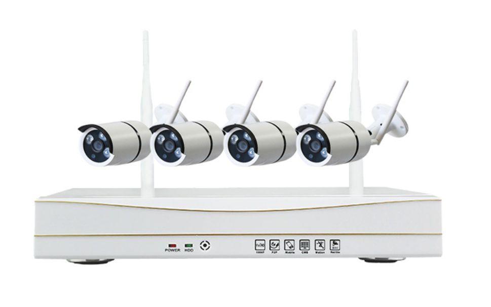 Ao ar livre 960 P HD WI-FI NVR kit 4 canais Plug And Play Sistema de CCTV Sem Fio WI-FI Câmera IP kit 3arrays IR50M Câmera de Segurança Ao Ar Livre