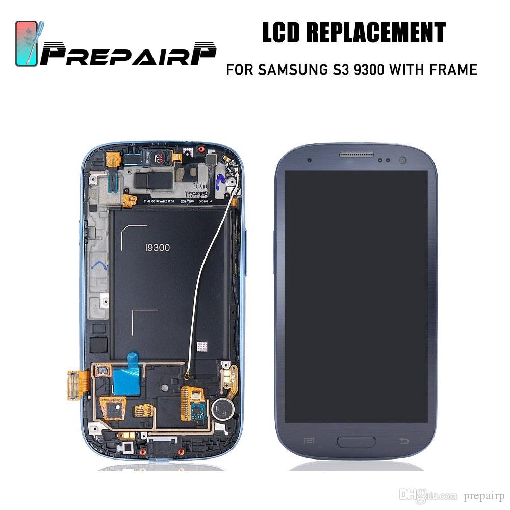 SAMSUNG Galaxy S3 için yedek LCD ekran dokunmatik panel ile ekran i9300 i9300i Dokunmatik Ekran Digitizer ücretsiz araçları ile