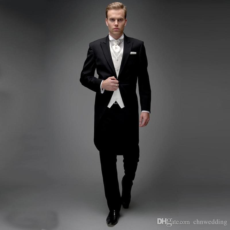 Branco italiano Tailcota Wedding Men Suits 2019 Groom Wear Slim Fit Terno smoking 2 Pieces (Jacket + Pants) Groomsman Prom ternos traje Homme