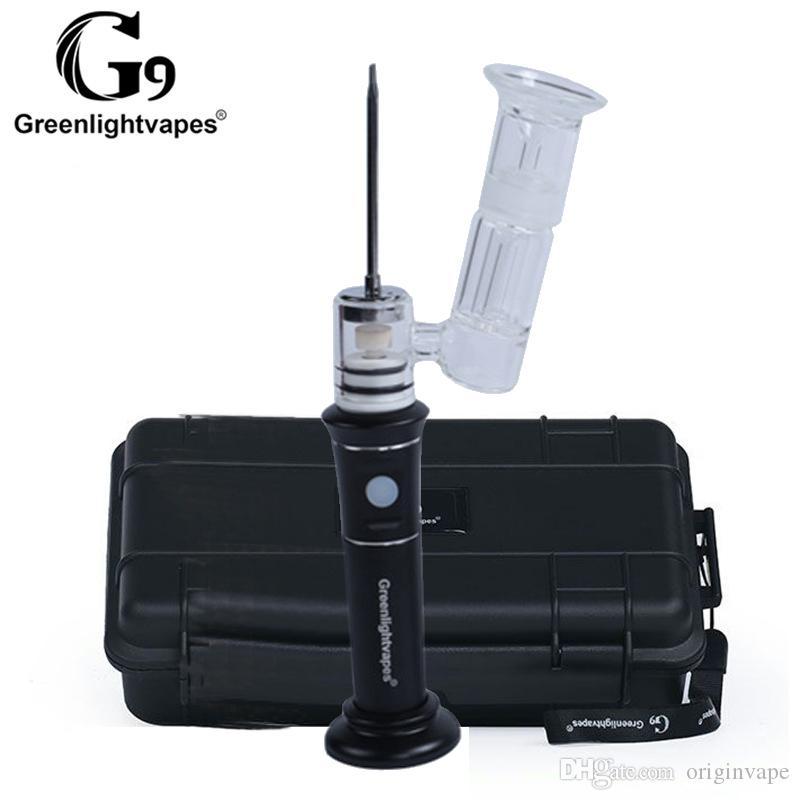 100% Original G9 Henail Plus Kit Electronic Wax Water Pipe Glass Bongs With Ceramic/Titianium Bowls Vaporizer Electric Enail DHL FREE SHIP
