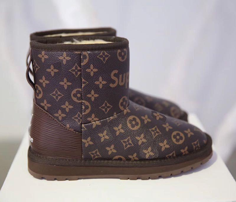 LOUIS VUITTON X SUPREME UGG Wool Boots