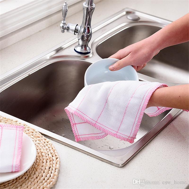 주방용 냅킨 효율적인 그리스 방지용 면포 면직물 주방 수건 매직 주방 청소 닦고 넝마