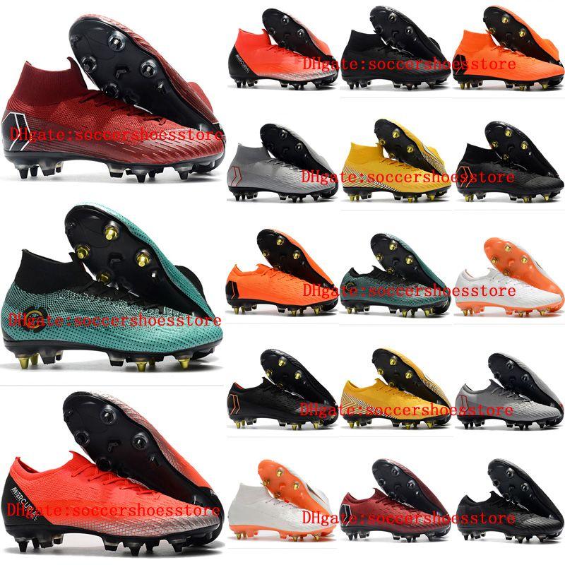 2018 tacchetti da calcio uomo Mercurial Vapor VI Elite CR7 neymar SG AC scarpe da calcio all'aperto ramponi de scarpe da calcio Mercurial Superfly hot
