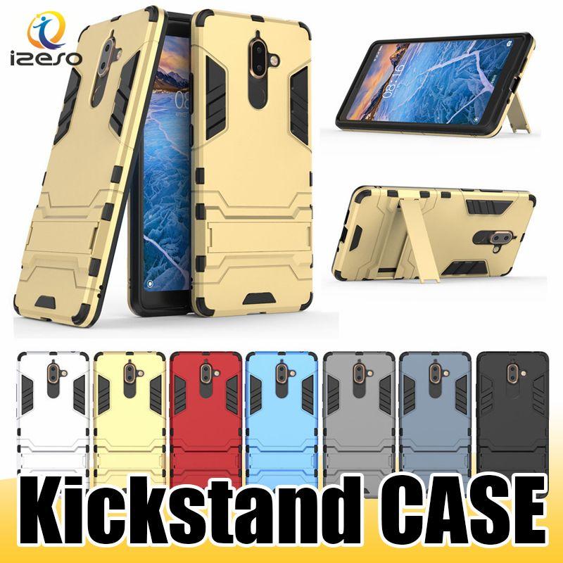 Funda de teléfono Kickstand híbrida para LG Stylo 5 K8 2019 MOTO P30 Note ZenFone 4 Pro NOKIA 7.1 Nubia Contraportada izeso