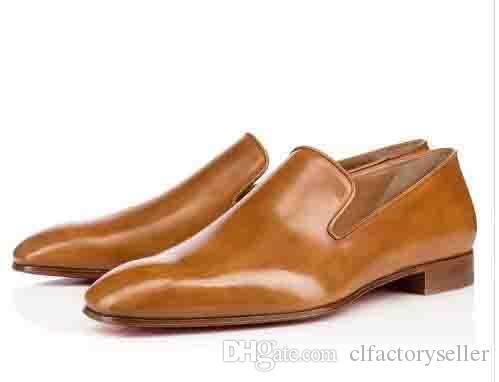 Gentleman Party Bussiness Kleid Slip On Loafers Schuhe Löwenzahn Sneaker Rote Untere Oxford Luxus Männer Freizeit Mode Flache