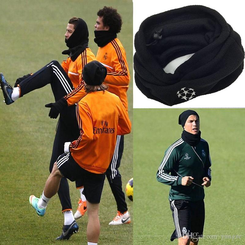 Dual-use-Schal Fußball Halstuch Fußball Schal Outdoor Sports Windproof Multifunktions Fleece Warme Mütze QT039
