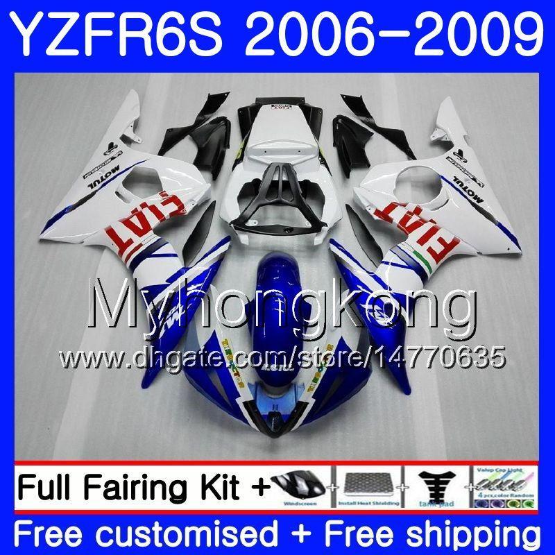Body For YAMAHA YZF R6 S R 6S YZF600 YZFR6S 06 07 08 09 231HM.17 YZF-600 YZF R6S light blue white YZF-R6S 2006 2007 2008 2009 Fairings Kit