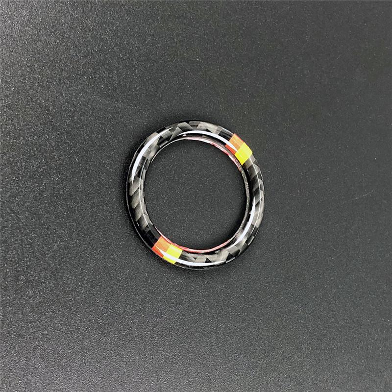 For bmw e90 e92 e93 car accessories Car Engine Start Stop Ignition Key Ring Stickers Carbon Fiber circle car styling