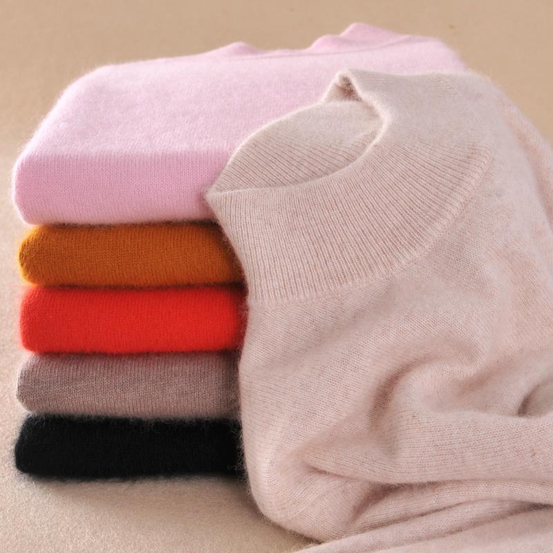 고품질 캐시미어 울 스웨터 여성 패션 가을 겨울 여성 부드럽고 편안한 따뜻한 슬림 캐시미어 블랜드 풀오버 D1892001을 zocept