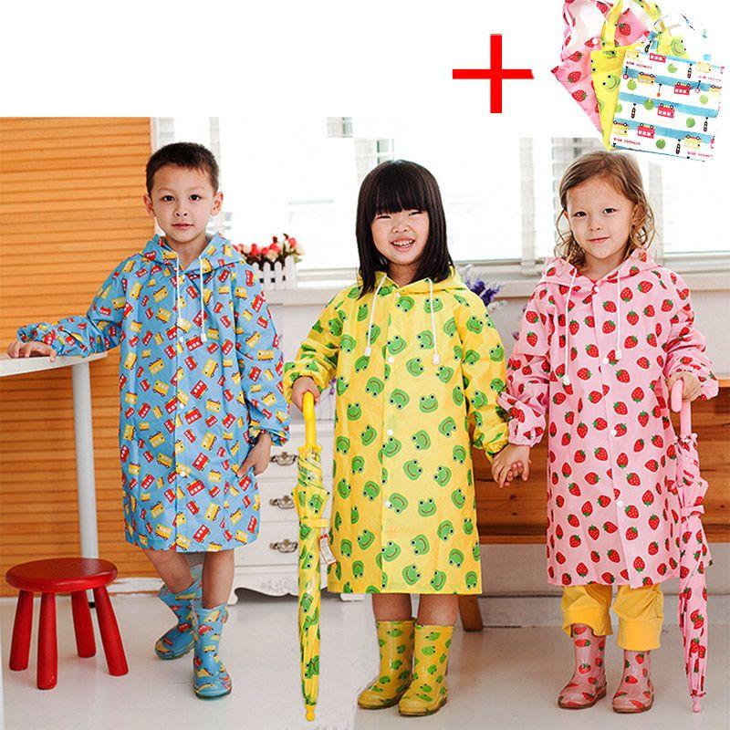 الأطفال المعطف الاطفال لطيف كابا دي chuva infantil ماء اليابان معطف المطر غطاء المعطف المطر مقنعين jaqueta كتيمة