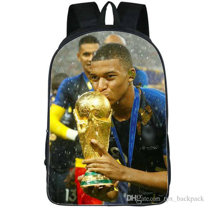 حقيبة ظهر اللاعب Kylian Mbappe day pack كرة القدم أفضل حقيبة مدرسية على شكل نجوم كرة القدم packsack Picture rucksack Sport schoolbag daypack في الهواء الطلق