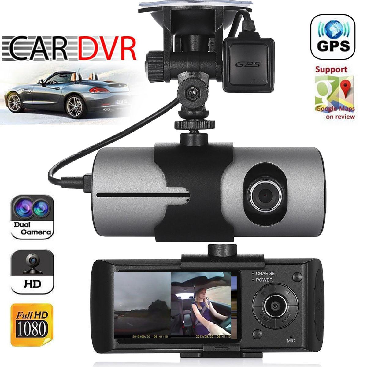 Upgraded Doppelobjekte GPS-Kamera Full HD Car DVR Dash Cam Video Recorder G-Sensor Nachtsicht für Uber Lyft Taxifahrer