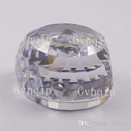 frete grátis por DHL branco Orlov CZ diamante solta pedras de zircônia gem cúbicos