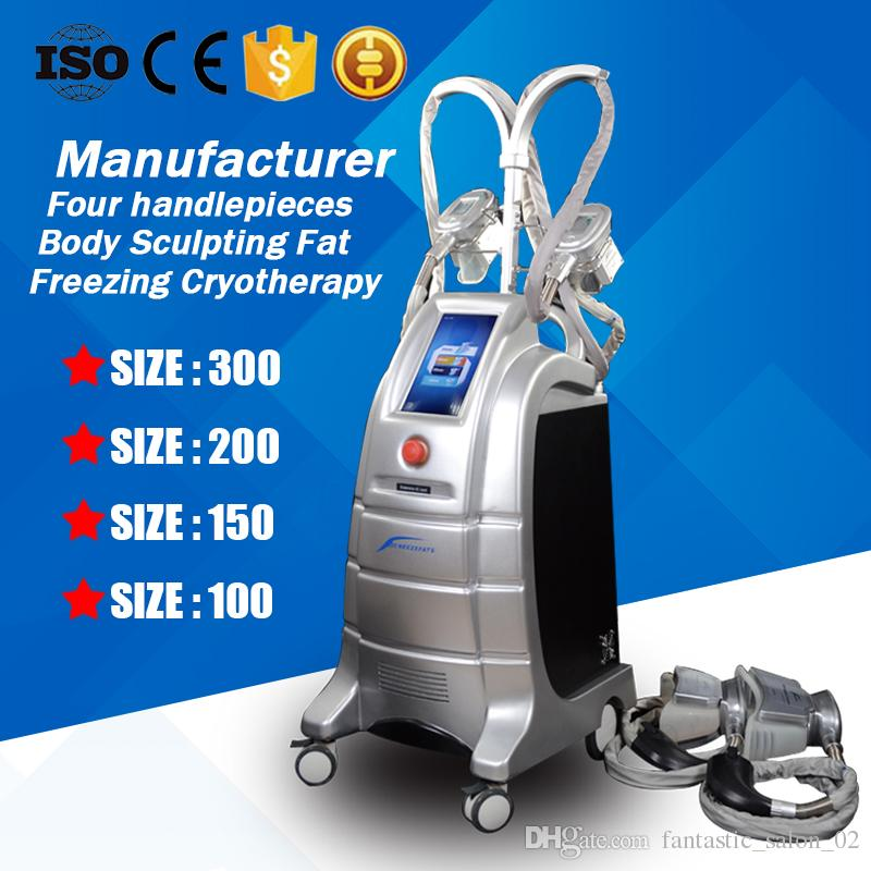 Cryo Slimming Machine Fat Freezing Weight Loss Cryotherapy Lipofreeze Cryo Body Sculpting Salon Equipment With 4 Heads Sizes 100 150 200 300