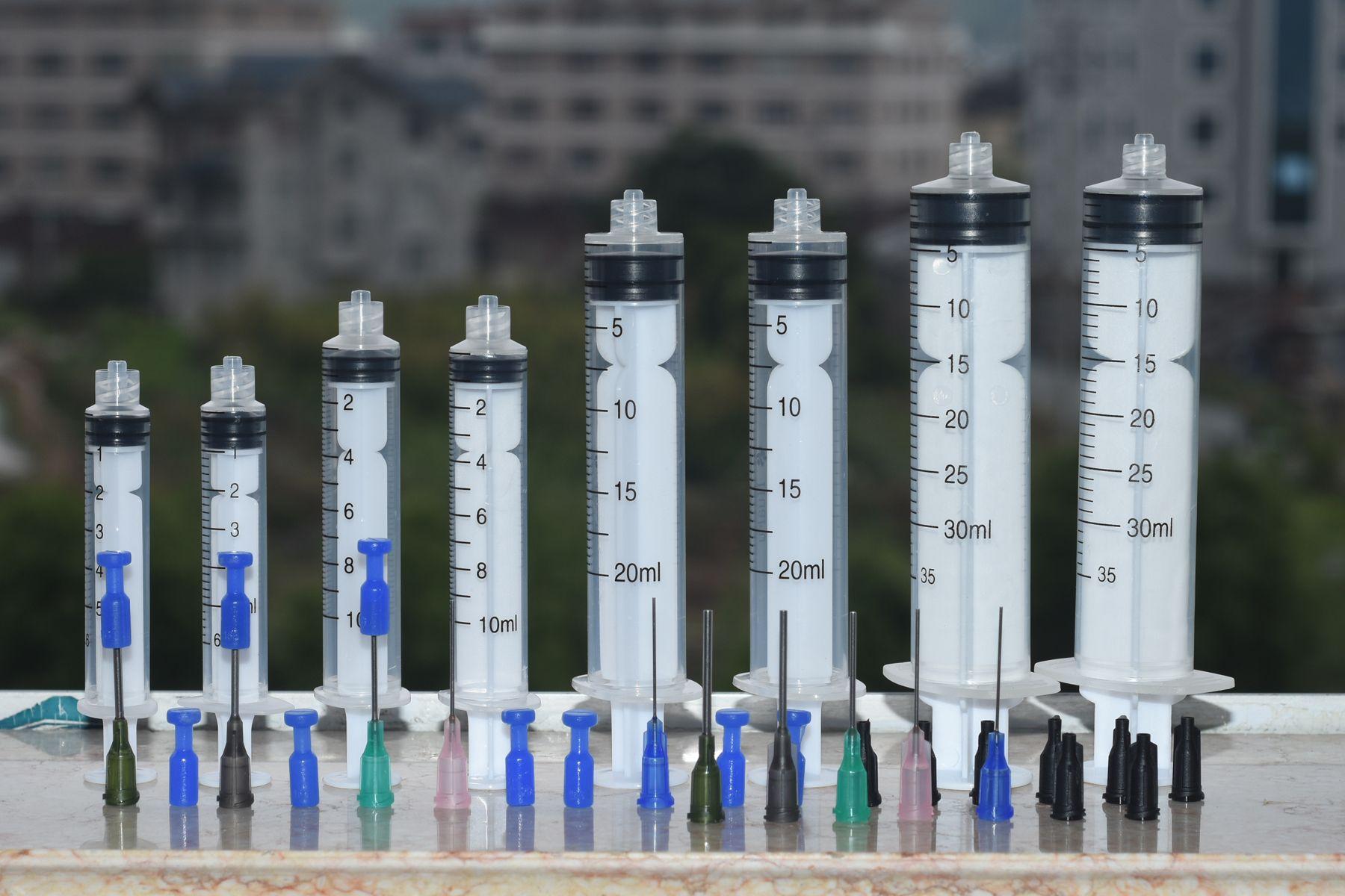 30cc 20cc 10CC 5CC Syringe Blunt Tip Needle and Storage Caps, Great for Refilling E-juice E-Liquids, E-cigs, Vape, Oil or Glue Applicator
