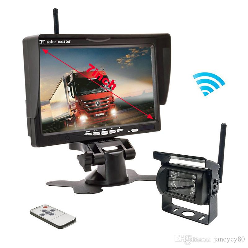 "7/"" LED CCD Cámara Monitor de respaldo de Visión Nocturna para Coche Camión Bus de sistema de aparcamiento"