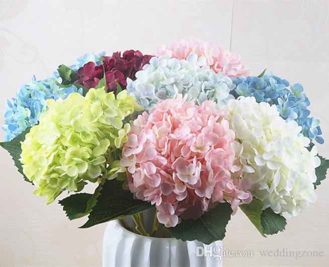 Artificial Hydrangea Flower 55cm * 20cm 176pcs petals Silk Hydrangeas Bouquet for Wedding Centerpieces Home Party Decorative