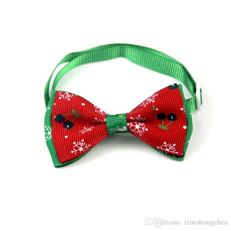 60PC/Lot Christmas Pet Dog Cat Collar Accessory Dogs Festival Bow Ties Dog Tie Pet Jewelry Accessories Wholesale Pet Supply Products