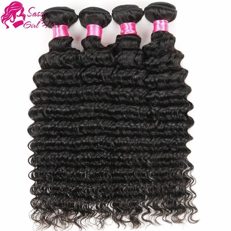 Deep Wave Brazilian Hair 4 Bundle 7a Unprocessed Virgin Brazilian Deep Wave Human Hair Weave Deep Curly Brazilian Hair