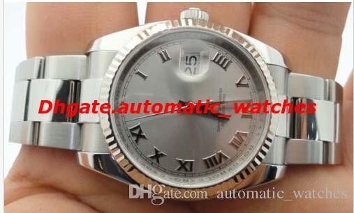 Relógios de luxo Pulseira De Aço Inoxidável 116234 18k Ouro Branco S / S 41mm Assista Caixa Original Relógio de Pulso Mecânico Marca de Moda masculina
