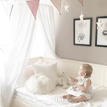 Nordic Style Baumwolle Leinen Baby Moskitonetz Hängen Dome Bett Vorhang Für Wohnzimmer Home Sofa Zelt 240 cm Baby Kind Schlafzimmer Decor