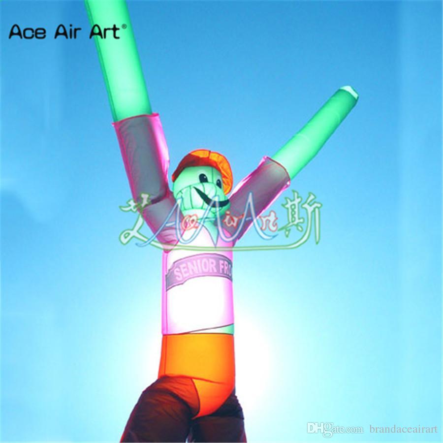 Danseurs de personnages de ciel de jambes de double jambes gonflables de conception supérieure géante, singe de l'air, grenouille de caractère à vendre